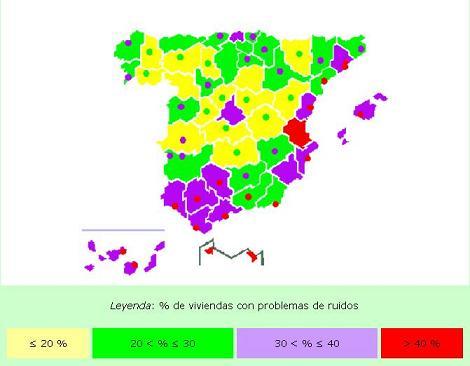 Mapa Ruido España