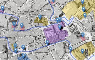 Mapa de Sevilla con puntos